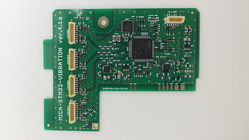 高性能マイコンSTM32実装振動センサ接続用ボードSTM32 Vibration